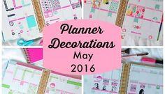 Planner Decorations May 2016 (Erin Condren Vertical)