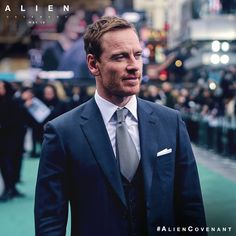 Michael Fassbender at the premiere of Alien: Covenant