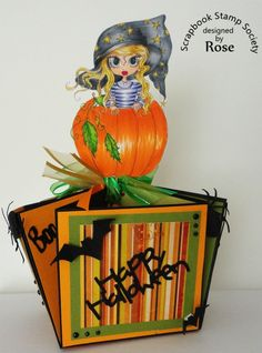 Halloween 3d box Scrapbook Designs, Candy Boxes, Digi Stamps, Halloween Candy, Copic Markers, Digital Image, Etsy Store, Besties, 3d