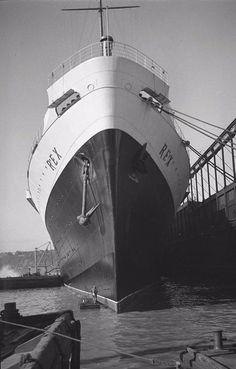 Italian Line REX at New York, January 5, 1933