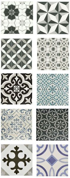 "cement-look-tile-home-depot (""porcelain and ceramic tiles that look like authentic encaustic cement tiles but for less money than you'd pay for the real thing"")"