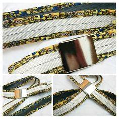 Gürtel aus Feuerwehrschlauch mit Kantenband Minion von Little-Fashion auf DaWanda.com