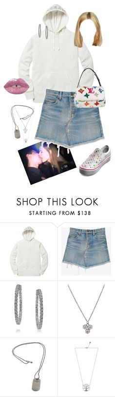 """""""Untitled #914"""" by jxnn-m ❤ liked on Polyvore featuring Yves Saint Laurent, Louis Vuitton, Mark Broumand, Cathy Waterman, Tiffany & Co., Feidt and Lime Crime"""