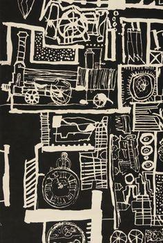 Born again: Hammer Prints by Nigel Henderson & Eduardo Paolozzi Textile Prints, Textile Design, Eduardo Paolozzi, James Rosenquist, Institute Of Contemporary Art, Mechanical Art, Gelli Printing, Wallpaper Magazine, To Infinity And Beyond