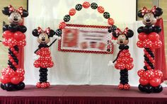 Our Minnie Mouse balloon decor created a magical atmosphere at this birthday party!