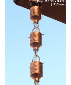 Copper Juno Rain Chain 8.5 ft @ only $84.95