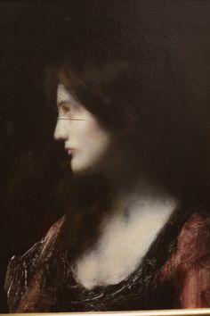 Jean-Jacques Henner, Portrait de femme, ?, huile sur bois.