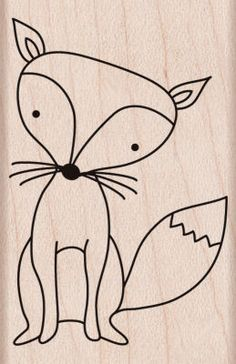 Fox Woodblock Stamp, I am going to use this stamp on my gift tags. I plan on drawing a santy hat on him.