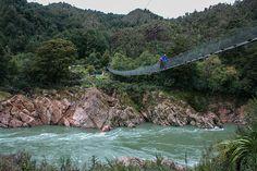 Cross the Swingbridge over Buller's Gorge, New Zealand. #travel #bucketlist