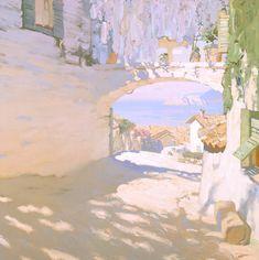Midday (Bizerte?). Bato Dugarzhapov. Russian. Contemporary. Well, this has certainly been done before in the 19th century, but what a glorious job he's done with the whites.