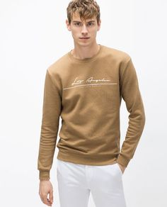 Sweat Shirt, Zara, Men Street, Boys Shirts, Mens Sweatshirts, Shirt Designs, Mens Fashion, Sweaters, Mens Tops