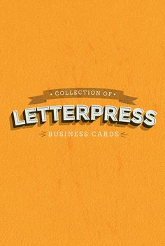 A Stunning Collection Of 50 Letterpress Business Cards