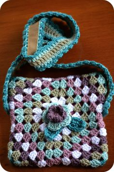 Granny envelope bag 2 - project found at The Green Dragonfly at wordpress