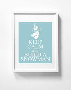 Disney's Frozen printable wall art Olaf Disney Poster Movie Blue Wall Art Printable Instant Download Children
