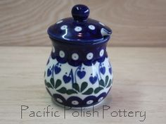 Polish Pottery Sugar, Honey or Spice Jar (Pattern 377o)