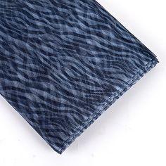 "Silver Organza Fabric Animal Printed 58"" x 10 Yards - Fuzzy Fabric"