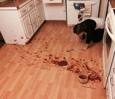 Amanda's great pudding disaster of 2014.