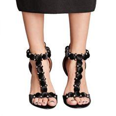- Forever 21 Velvet Studded T-Strap Heels, $48.