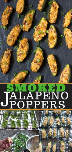 Smoked Jalapeño Poppers with Smoked Bacon is an awesome appetizer for Super Bowl made with crispy smoked bacon, cream cheese and cheddar cheese. Creamy, crunchy, a touch spicy and delicious! Smoked Jalapeno, Jalapeno Recipes, Smoked Bacon, Bacon Bacon, Grilled Jalapeno Poppers, Bacon Recipes, Milk Recipes, Traeger Recipes, Grilling Recipes