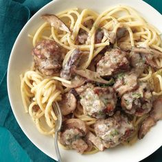 The oven makes quick work of browning these beef meatballs.
