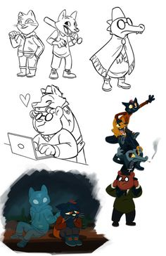 Lynx's Scribbles and Art | The results from last night's NITW requests...