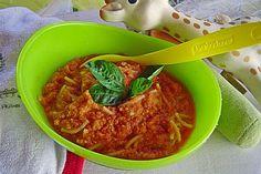 Spagetti Bolognese für Babys, ein schönes Rezept aus der Kategorie Schmoren. Bewertungen: 37. Durchschnitt: Ø 4,6.