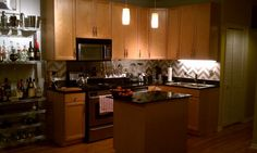 chevron pattern backsplash!