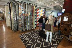 Rugs rugs and more rugs at Surya's AmericasMart Atlanta showroom