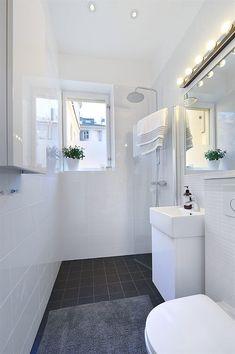Hardly the dream bathroom, but a quick fix for L: a Korsgatan? - Hardly the dream bathroom, but a quick fix for L: a Korsgatan? Narrow Bathroom, Laundry Room Bathroom, Tiny Bathrooms, Bathroom Toilets, Bathroom Renos, White Bathroom, Bathroom Renovations, Bathroom Interior, Master Bathroom
