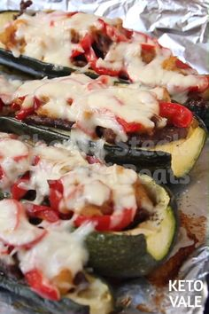 Cheesy Steak Zucchini Boats Low Carb Recipe for Keto Diet