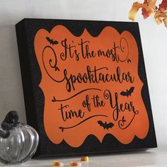 Christmas may be the most wonderful time, but Halloween is the downright spookiest. Show this dark holiday some love with our wooden wall decor, painted in classic black and orange and exclusive to Pier 1 Imports.
