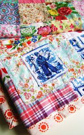 silly old suitcase: About a not so perfect perfect patchwork blanket...