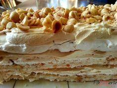 Een succesrecept! Hazelnootschuimtaart met mokka is bij onze verjaardagen altijd de favoriet. Nu maak ik hem zelf en deze rechthoekige vorm is ideaal!