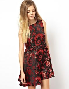 ASOS Reclaimed Vintage Brocade Smock Dress