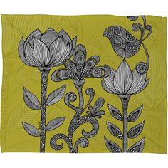 Green Garden Throw Blanket - Valentina Ramos on Joss and Main