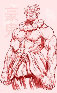 Akuma by mr. Figure Drawing, Drawing Reference, Akuma Street Fighter, Street Fighter Characters, Street Fights, Art Anime, Poses References, Cool Drawings, Game Art
