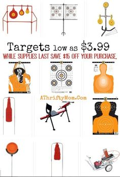 Targets and shooting supplies on sale with fifteen dollars off purchase sale, Man Gift Ideas, Outdoors Gift Ideas, Gun Realated Gift ideas
