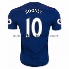 Neues Manchester United 2016-17 Fussball Trikot Rooney 10 Kurzarm Auswärtstrikot Shop