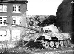 Destroyed Tiger II from heavy SS-Panzer-Abteilung 501 during the Battle of the…