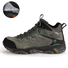 Men Hiking Shoes Winter Outdoor Sports Climbing Shoes Non slip Warm Lace-up Tr Best Hiking Shoes, Best Trail Running Shoes, Hiking Boots, Men's Shoes, Shoe Boots, Boots Store, Shoe Department, Climbing Shoes, Merrell Shoes