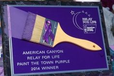 Paint the town purple award made and donated by American Trophies, Antioch, CA. Can ship anywhere! (925) 754-7878