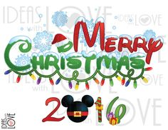 INSTANT DOWNLOAD DIY Disney Merry Christmas 2016 Family Vacation Disney Trip…