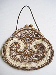 Antique Beaded Purse Bag-Art Nouveau-France Vintage Handbags, Vintage Purses,  Vintage 2dff6ed45e