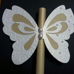 Embossed butterfly invitation by Shamela