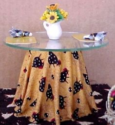 how to: making a skirted table