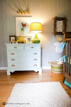 Friends of the Forest Nursery - Design Dazzle Toddler Rooms, Baby Boy Rooms, Baby Boy Nurseries, Baby Room, Kids Rooms, Forest Nursery, Woodland Nursery, Woodland Theme, Forest Room