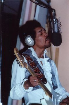 Jimi - Summer of 1969 - Record Plant Studios - by Willis Hogan