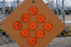 Caution reflectors.