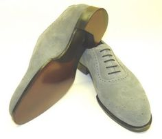 Alfred Sargent made to order grey suede shoes