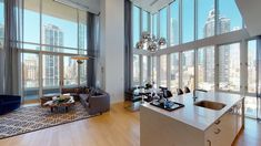 Virtual Tour by:. City Living, Home And Living, Modern Contemporary Living Room, Contemporary Kitchens, Mansion Tour, New York Penthouse, New York Apartments, Glam Living Room, California Homes